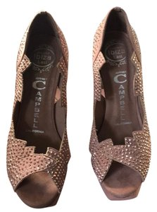 Jeffrey Campbell Pink suede with rose gold crystals Platforms