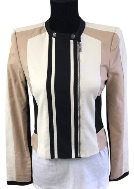Item - Pink White and Black Jacket Size 4 (S)