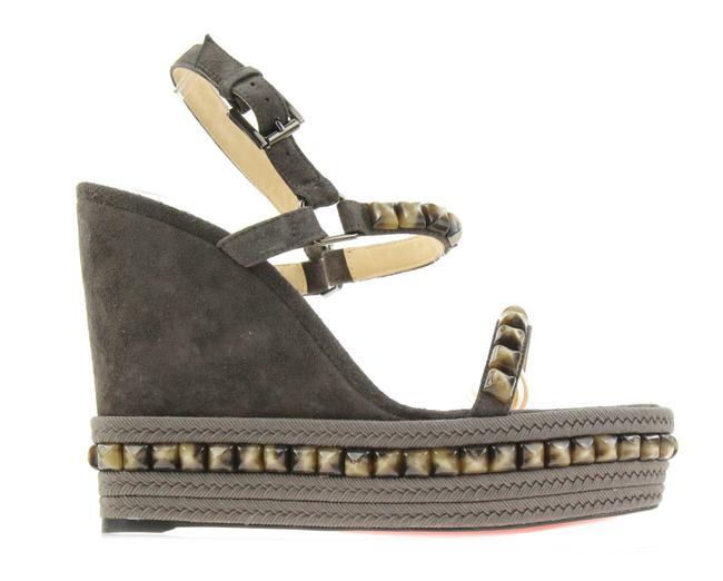 Item - Grey Suede and Stud Cataclou Wedges Size EU 41 (Approx. US 11) Regular (M, B)
