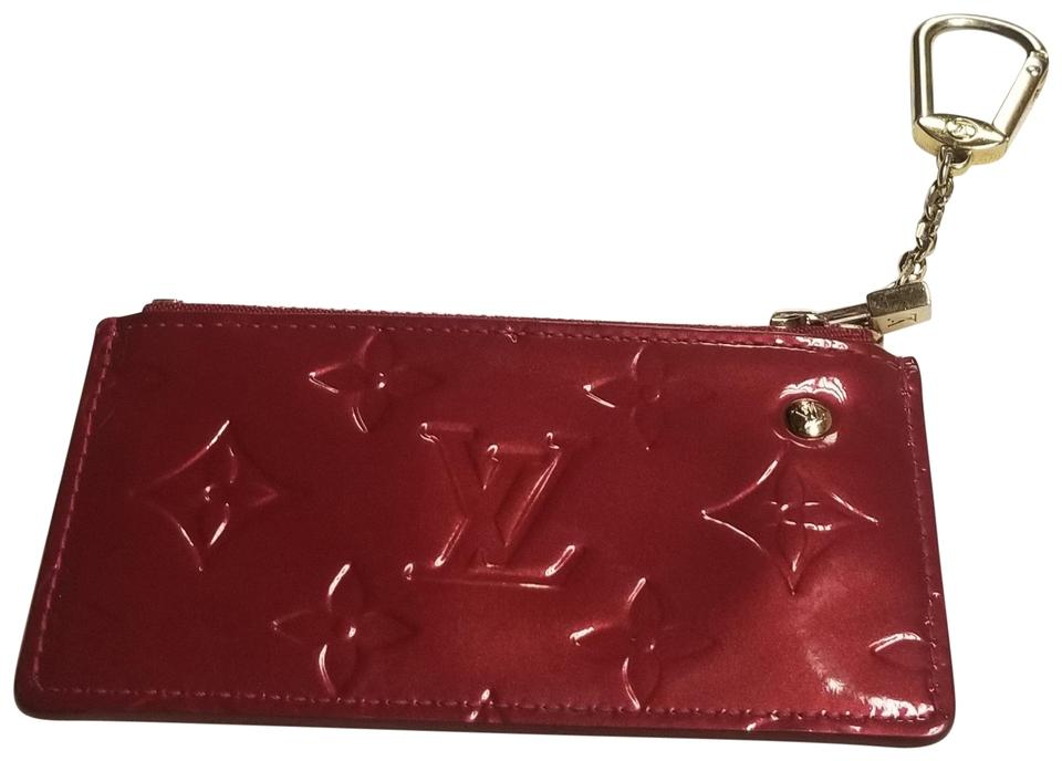 1e71a8d46ddb Louis Vuitton Patent Leather Pochette Cles Vernis Coin Purse Key Ring Image  0 ...