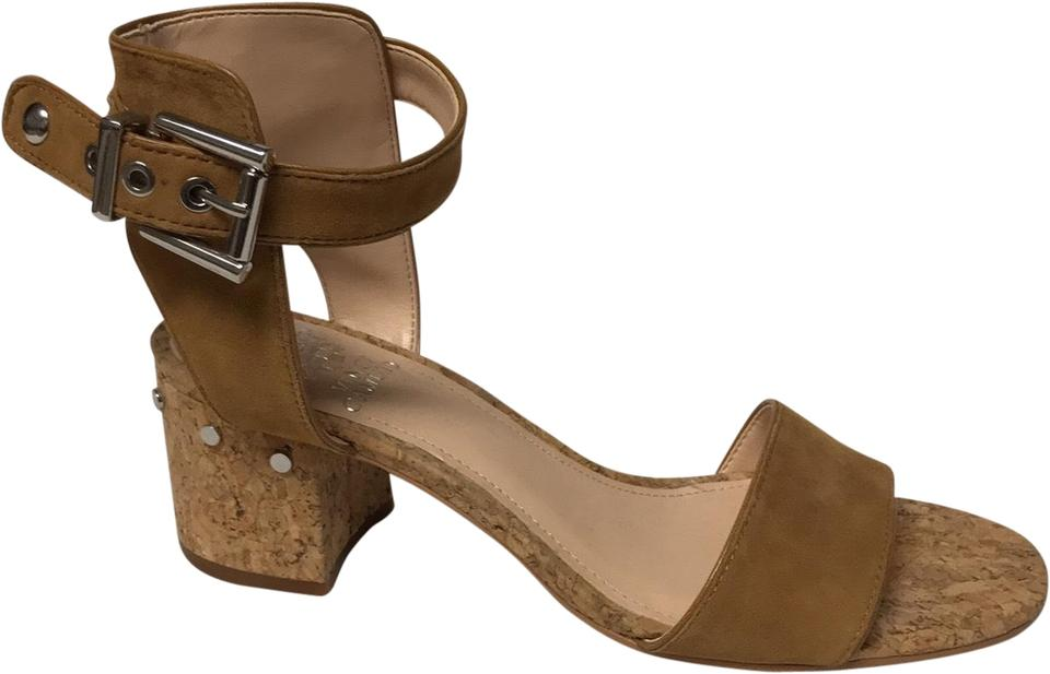 1996fcc400c0 Vince Camuto Brown With Cork Heel Sandals Size US 8 Regular (M