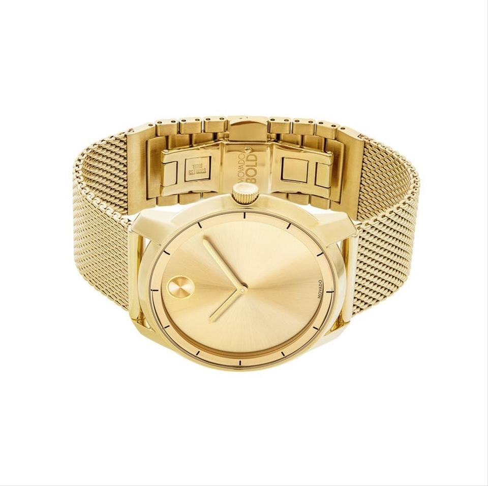 b3eedf546 Movado Gold Stainless Mesh Strap Sunray Dial 3600373 Watch - Tradesy