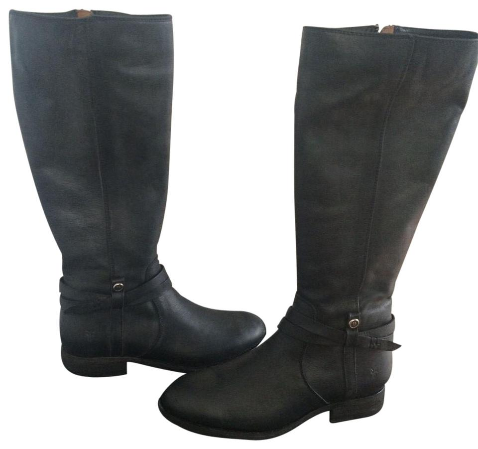 6876fc91fed Frye Black Melissa Belted Tall Boots Booties Size US 7 Regular (M