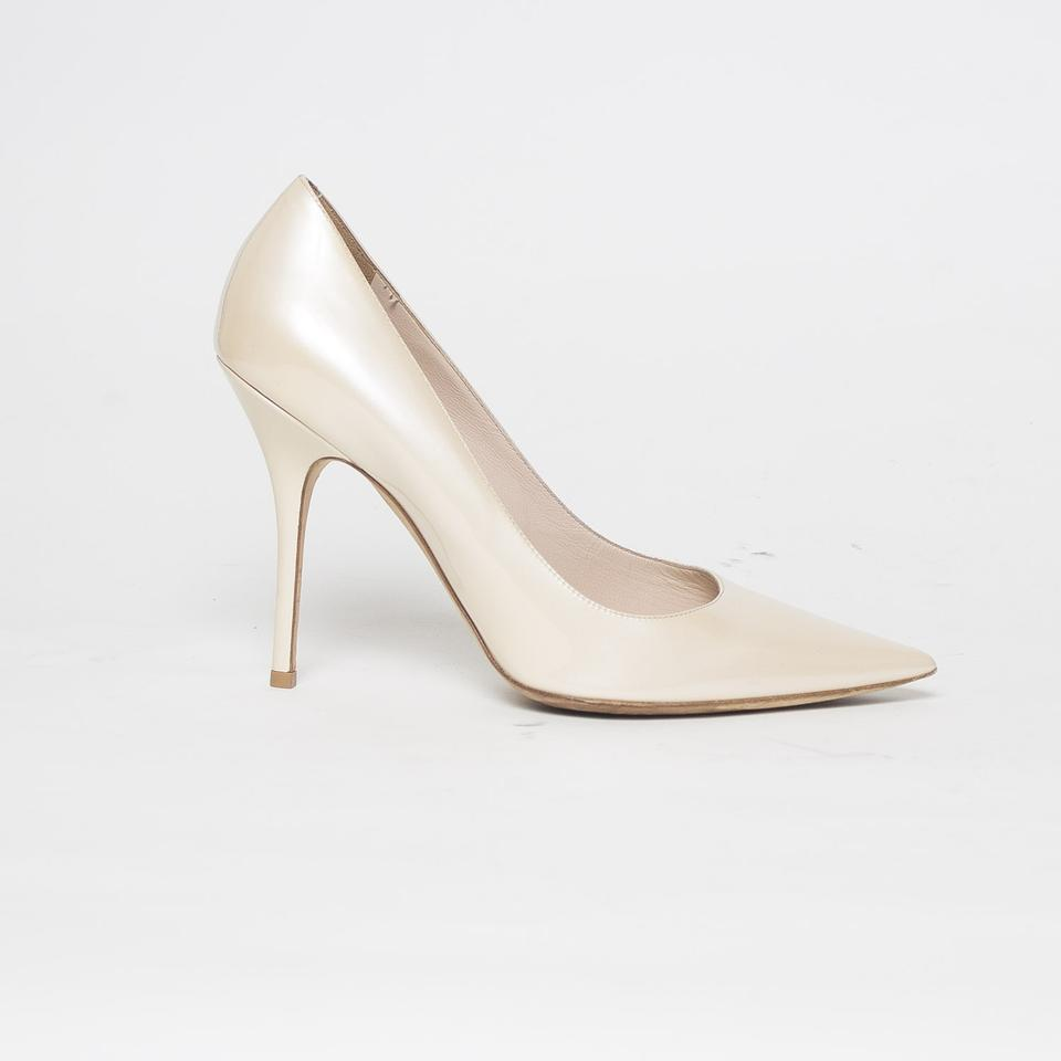 e6a3a941b38 Dior Beige Patent Leather Pointed Pumps Size EU 39.5 (Approx. US 9.5 ...