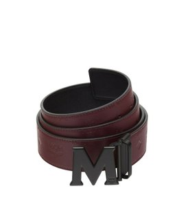 MCM BRAND NEW UNISEX MCM RUSTIC BROWN AND BLACK CLAUS REVERSIBLE M BUCKLE