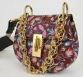 Chloé Drew Bijou Floral Print Small C0t1qb Plum Purple Leather Shoulder Bag Chloé Drew Bijou Floral Print Small C0t1qb Plum Purple Leather Shoulder Bag Image 4