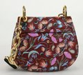 Chloé Drew Bijou Floral Print Small C0t1qb Plum Purple Leather Shoulder Bag Chloé Drew Bijou Floral Print Small C0t1qb Plum Purple Leather Shoulder Bag Image 5