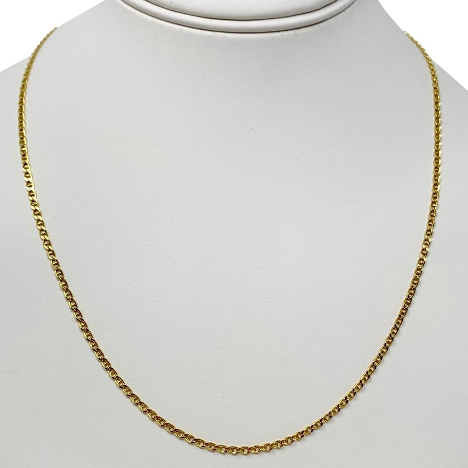 6856c1c09 Other 14k Gold Thin Gucci Anchor Mariner Link Chain Necklace Italy 20 ...