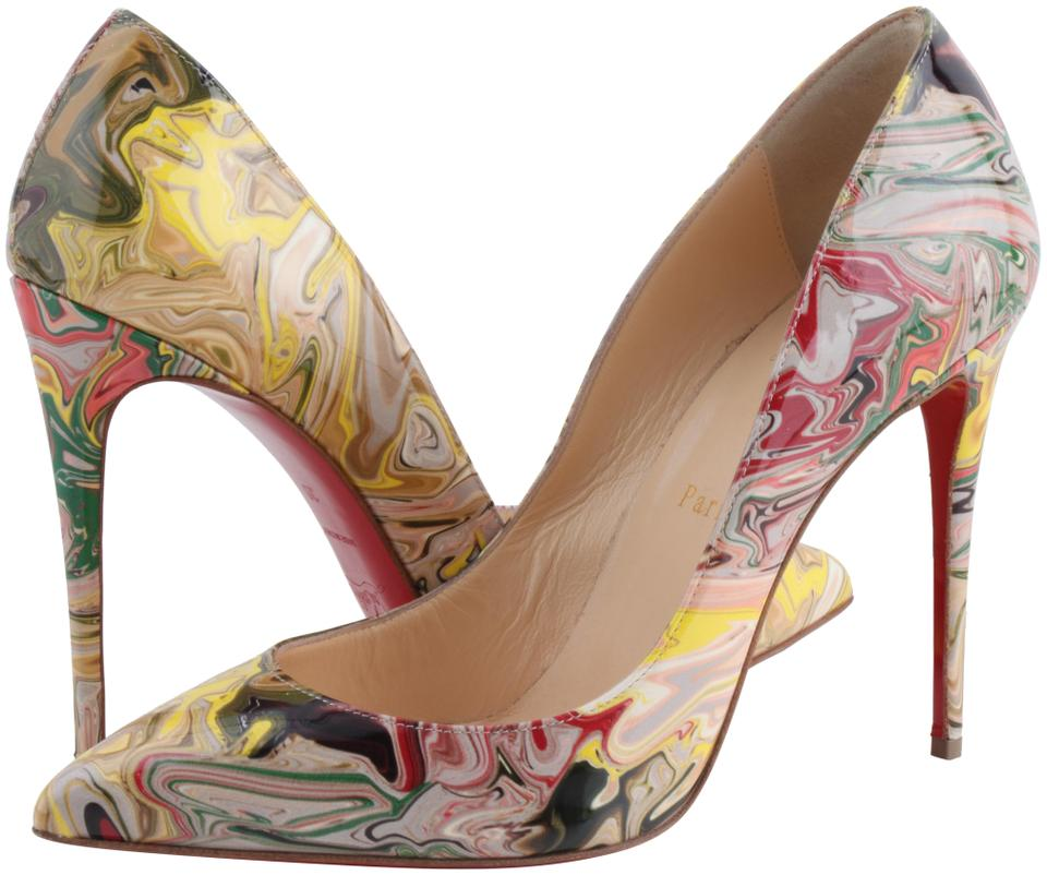 san francisco 73c65 66fb7 Christian Louboutin Multicolor Marble Pigalle Follies Pumps Size US 9  Regular (M, B) 19% off retail