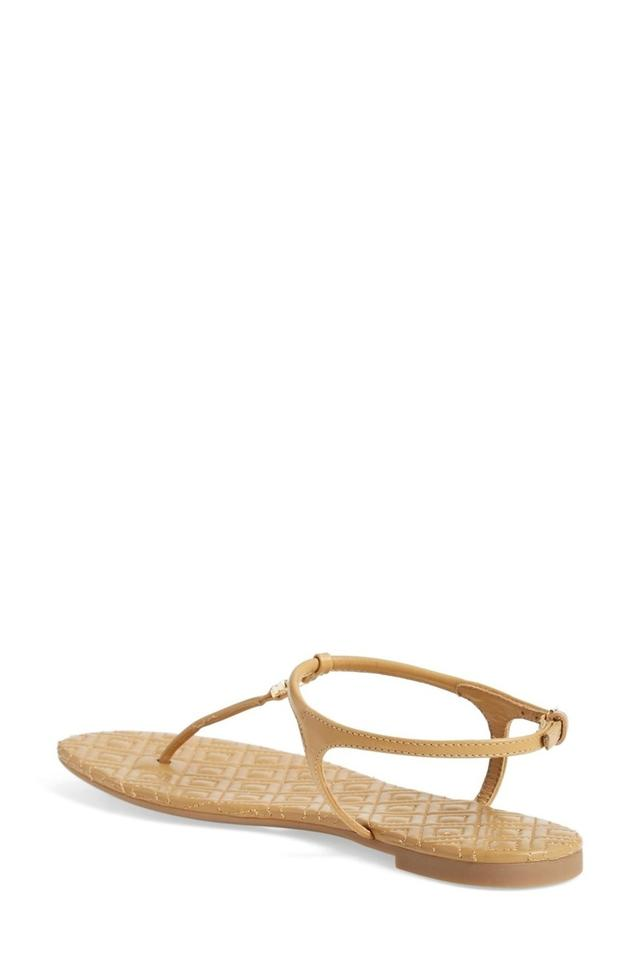 7b467074ca8ab Tory Burch Nude Marion T Quilted T-strap Sandals Size US 8.5 Regular ...