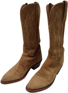 Lucchese Suede Size 7 Western Tan Boots