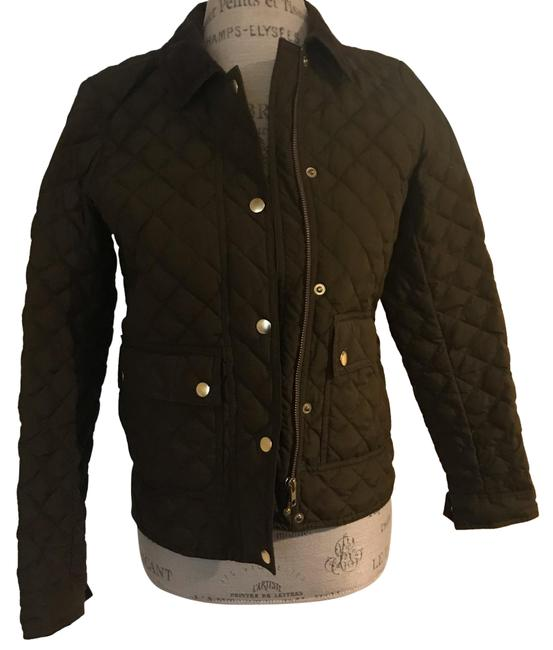 Item - Army Green and Black and Cream Vest Jacket Size 2 (XS)