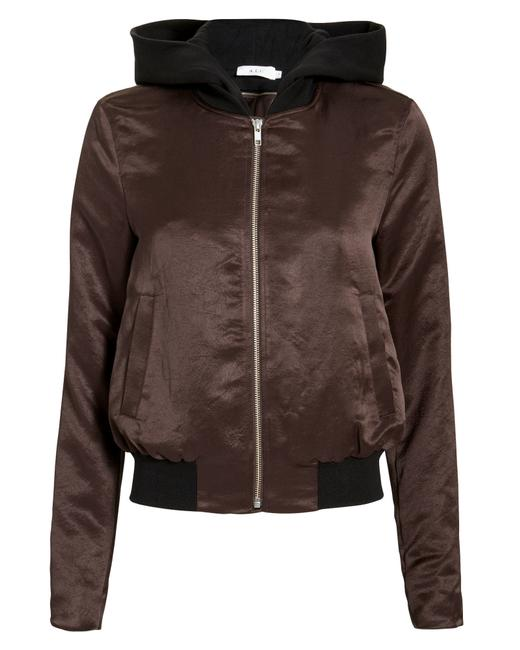 A.L.C. Metallic Hardware Satin Dickie Burgundy/Black Jacket Image 0