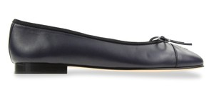 Chanel Bow Leather Lambskin Blue Flats