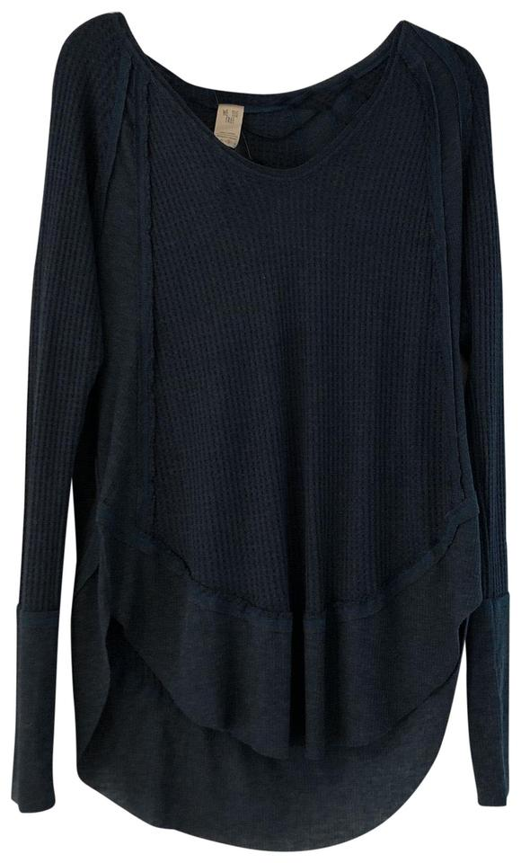 ab244a1638 Free People Ob833186 Catalina Thermal Secret Lagoon Heather (Blue) Sweater