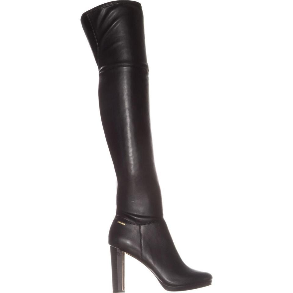 98d3134d0b5 Calvin Klein Black Pammie Over-the-knee Leather   37.5 Boots Booties ...
