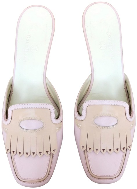 Item - Pink Kitten Heel Loafer Mules/Slides Size US 7.5 Regular (M, B)