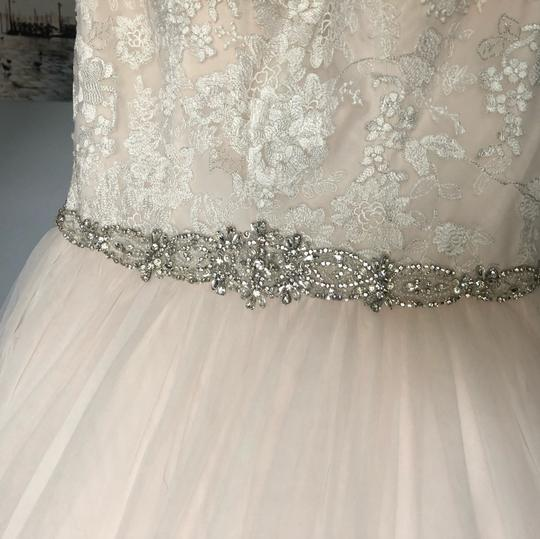 Stella York Ivory/Moscato/Almond Tulle/Lace Ballgown Formal Wedding Dress Size 8 (M) Image 3