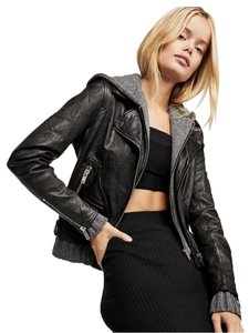DOMA Moto Moto Black with gray Leather Jacket
