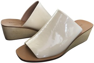 Rachel Comey Leather Wedge Heel Cream Mules