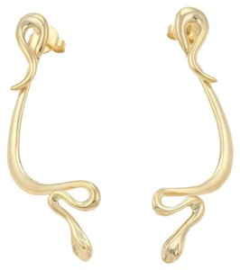 Tiffany & Co. Peretti 18k Yellow Gold Long Snake Drop Dangle Earrings