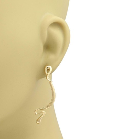 Tiffany & Co. Peretti 18k Yellow Gold Long Snake Drop Dangle Earrings Image 1