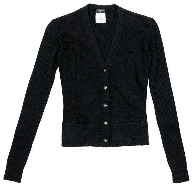 Chanel Quilted Suede Karl Lagerfeld Sweater Cardigan