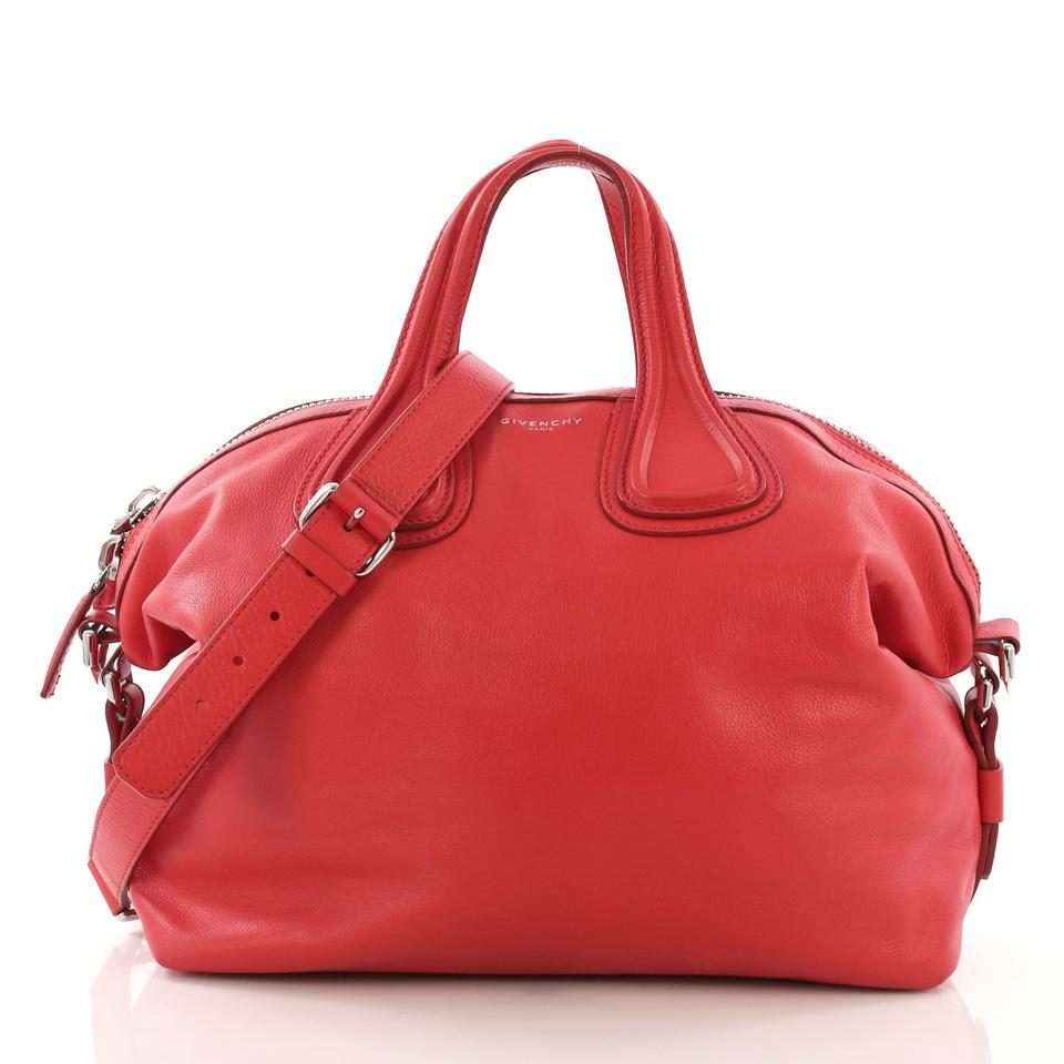 422b4fa1d3 Givenchy Nightingale Medium Red Leather Satchel - Tradesy