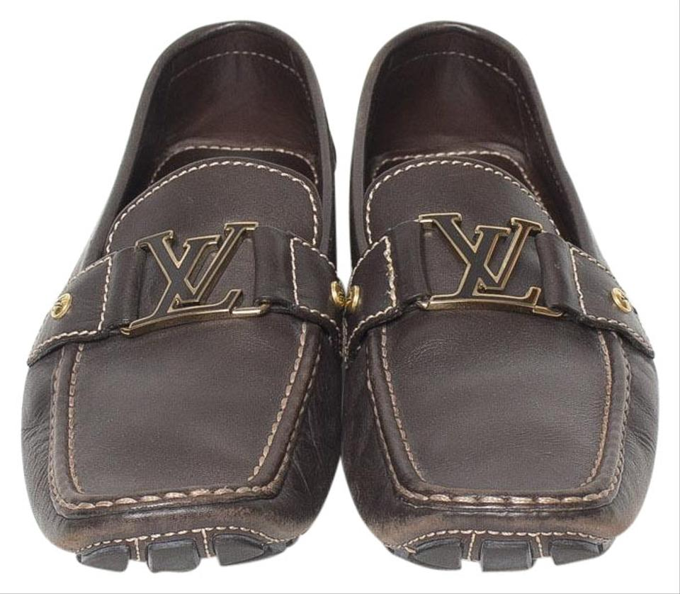 a90a574252a8 Louis Vuitton Brown Men s Monte Carlo Loafers Flats Size US 11 ...