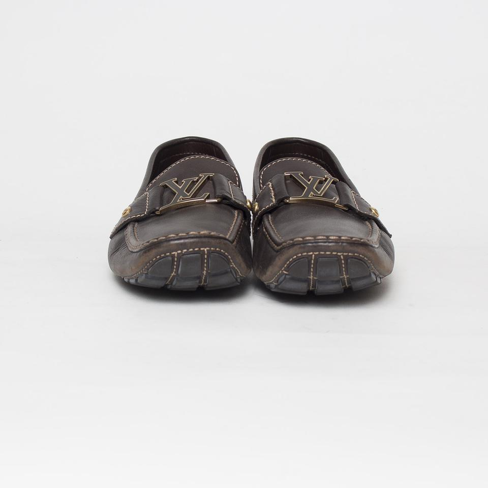 0259a185ae2 Louis Vuitton Brown Men s Monte Carlo Loafers Flats Size US 11 Narrow (Aa