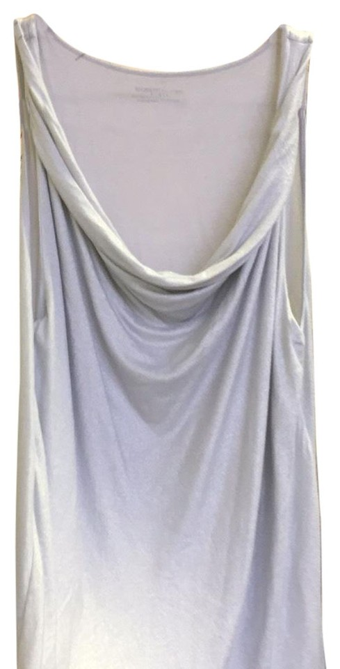 c0075032237976 Majestic Filatures Sparkly Light Silver Draped Neck Tank Shell Tank Top Cami