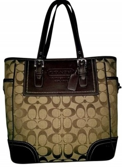 Preload https://item3.tradesy.com/images/coach-brown-tan-canvas-shoulder-bag-24897-0-0.jpg?width=440&height=440