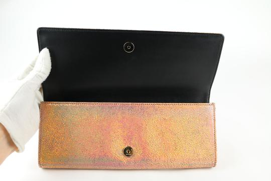 Gucci Gucci Broadway Crackled Metallic Leather Clutch Image 6