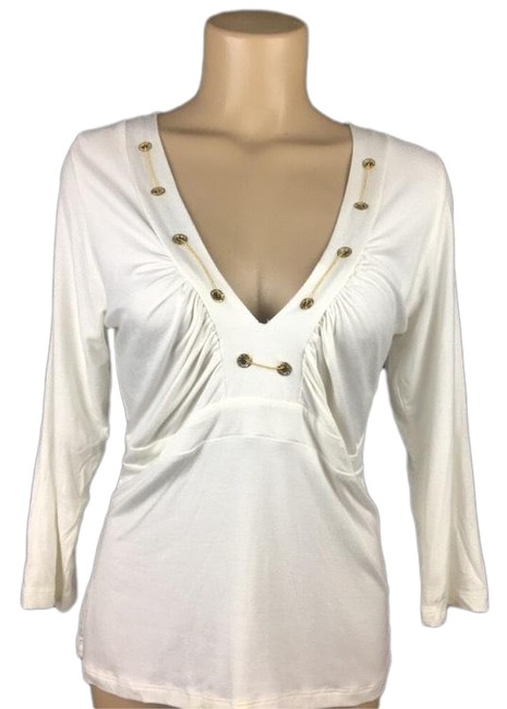 Item - Ivory Chain Neck Blouse Size 16 (XL, Plus 0x)