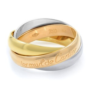 Cartier Gold Trinity 3 Ring Tri Color 18k Women's Wedding Band