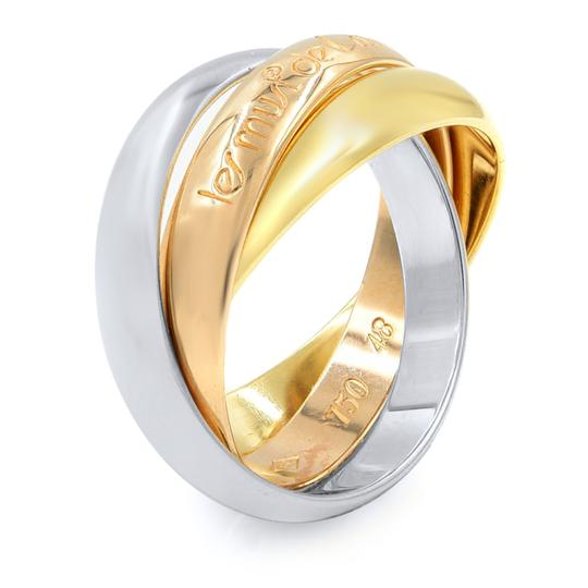 Cartier Gold Trinity 3 Ring Tri Color 18k Women's Wedding Band Image 1