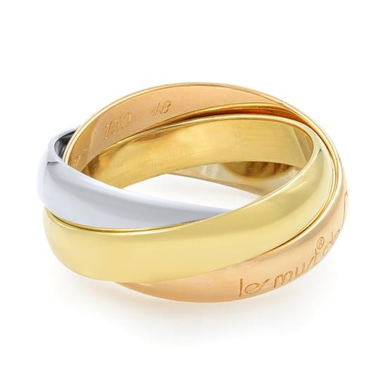 Cartier Gold Trinity 3 Ring Tri Color 18k Women's Wedding Band Image 2