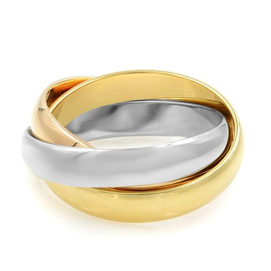Cartier Gold Trinity 3 Ring Tri Color 18k Women's Wedding Band Image 3