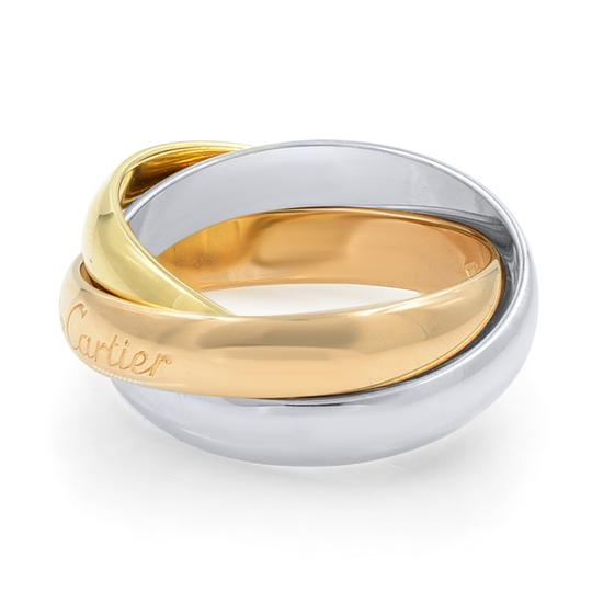 Cartier Gold Trinity 3 Ring Tri Color 18k Women's Wedding Band Image 4