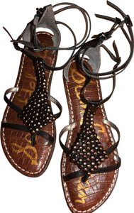 Sam Edelman T Stap Gems Gladiator Studded Black Sandals