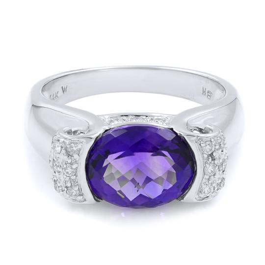 Preload https://img-static.tradesy.com/item/24897462/purple-diamond-and-amethyst-in-14k-white-gold-ring-0-0-540-540.jpg