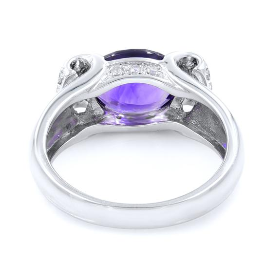 Other Diamond And Amethyst Ring in 14K White Gold Image 2