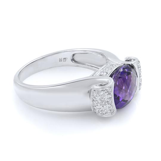 Other Diamond And Amethyst Ring in 14K White Gold Image 3