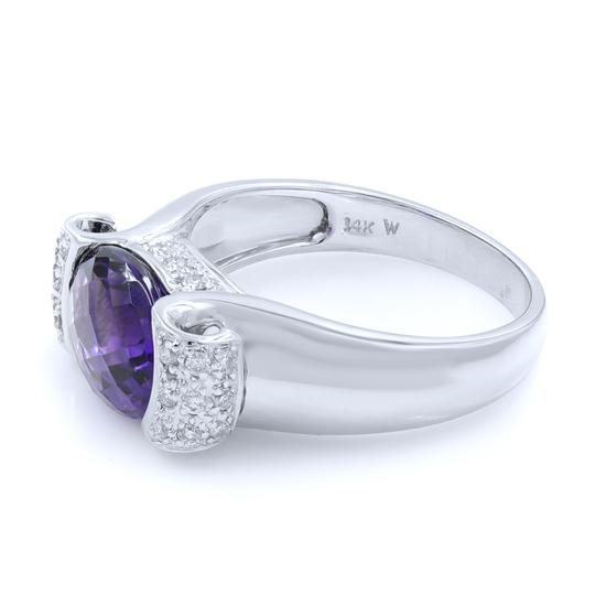 Other Diamond And Amethyst Ring in 14K White Gold Image 4