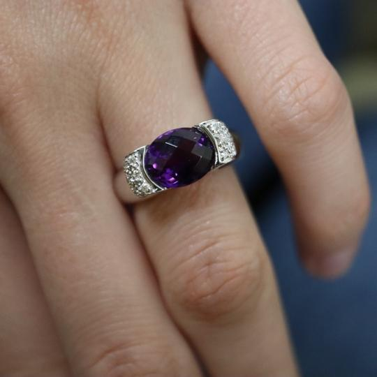 Other Diamond And Amethyst Ring in 14K White Gold Image 5