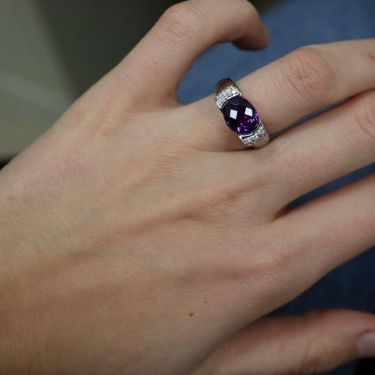 Other Diamond And Amethyst Ring in 14K White Gold Image 6