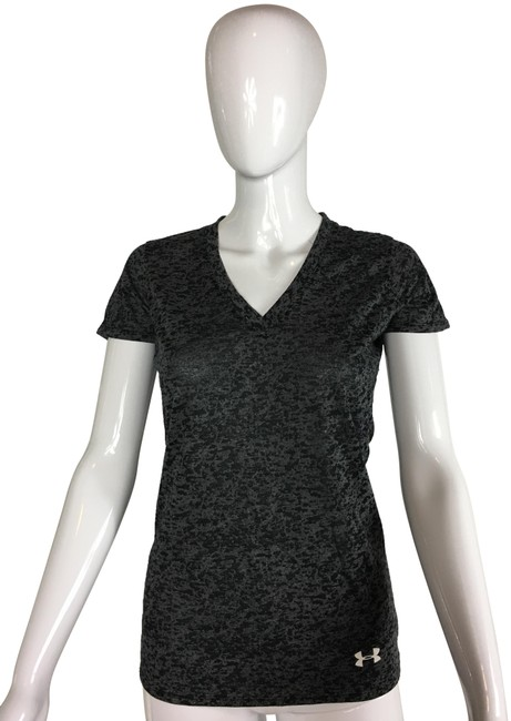 Preload https://img-static.tradesy.com/item/24897605/under-armour-grey-and-black-heat-gear-v-neck-tee-shirt-size-2-xs-0-1-650-650.jpg