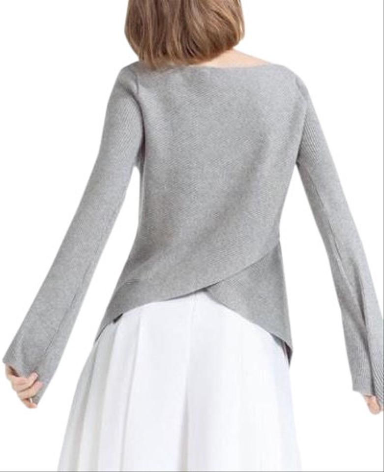 08f2612c Zara Soft-knit Knit Ribbed Cross-back Gray - Super Soft Stretchy ...