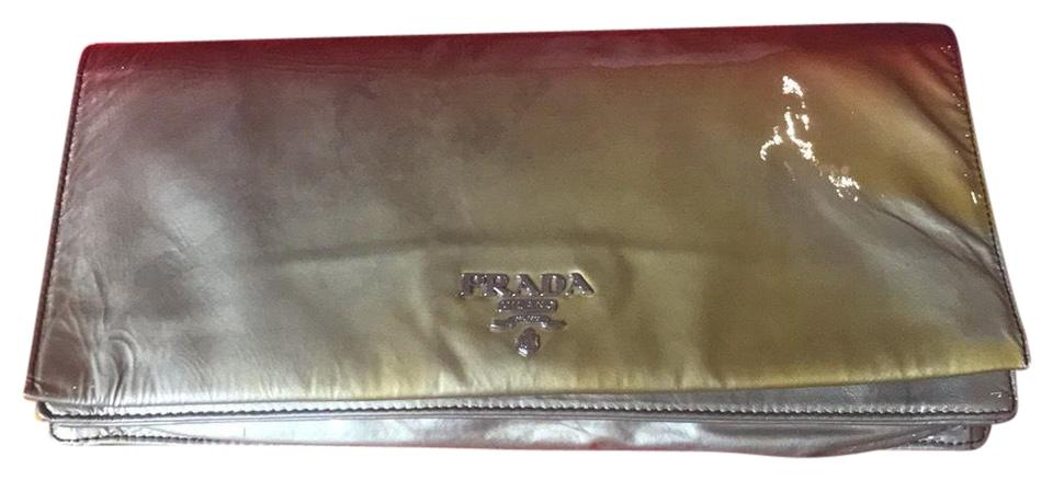 e6293c56698d2f Prada Ombré Red/Gray Red Gray Patent Leather Clutch - Tradesy