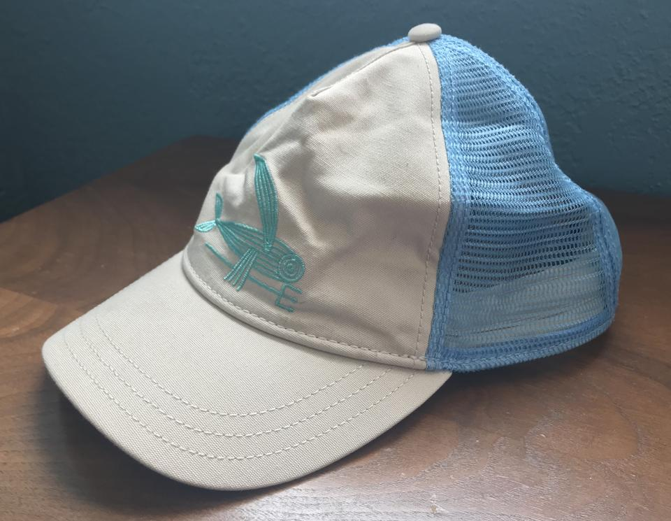443cb8397 Tan Baby Blue and Teal Hat